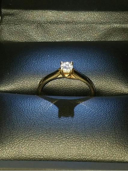 Anillo De Compromiso 14 Kilates Con Diamante