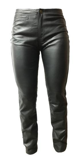 Pantalon Cuero Genuino Chupin Mujer - Maybe -