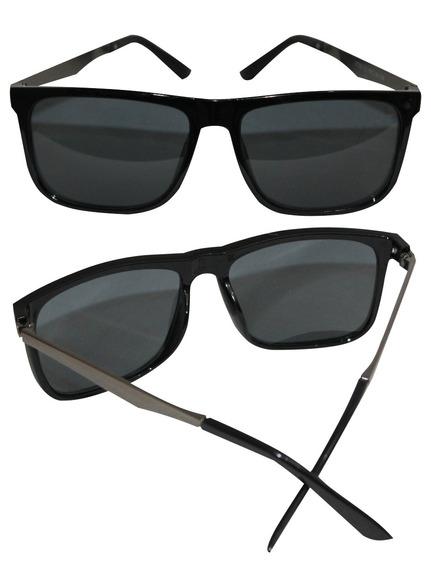 Óculos De Sol Quadrado Unissex Lente Escura Uv400