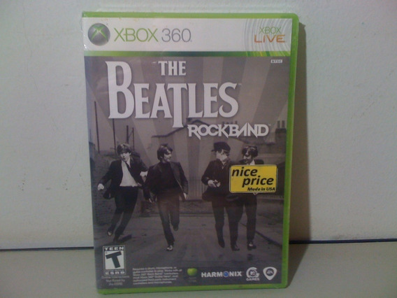 Jogo Lacrado Beatles Rock Band Xbox 360 Importad Frte Grátis