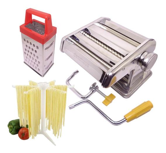 Máquina E Varal De Massa Fresca Espaguete Talharim + Brinde