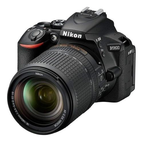 Nikon D5600 18-140mm VR Kit DSLR cor  preto