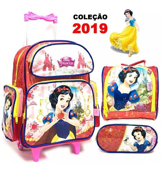 Kit Mochila Com Rodinha Princesa Original 2018 Princesas