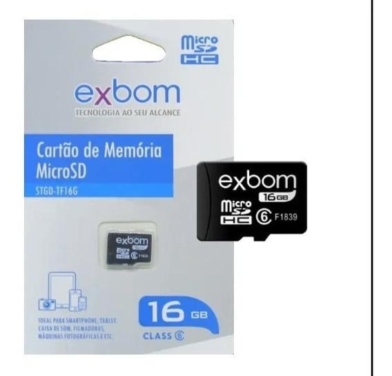 Cartão De Memoria Exbom 16gb Micro Sd Tf16g