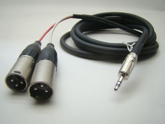 Cabo De Áudio P2 Estéreo X 2 Xlr Macho 1,5m Amphenol