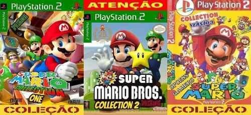 Mario Bros Ps2 Collection 1 2 3 Coleção (3 Dvds) Patch