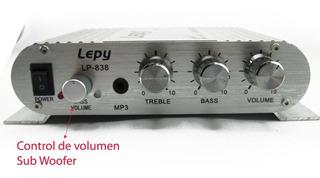 Amplificador 2.1 100w Max.salida Subwoofer C/fuente Para 220