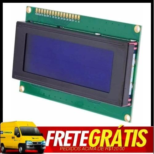 30 X Lcd 20x4 Com Backlight Azul E Escrita Branca