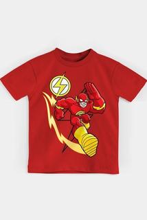 Camiseta Infantil The Flash Em Ação Oficial