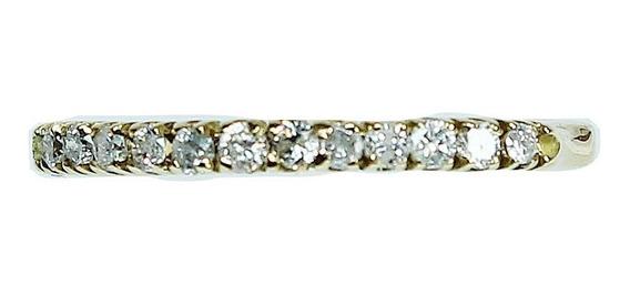 Pocao2005- Anel Ouro 18k750 Diamantes 12x S/j Ft/gt 1151