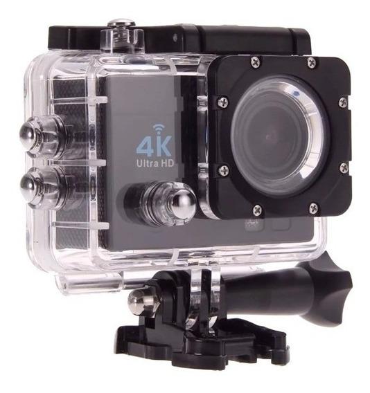 Camera Filmadora 4k Mergulho Esporte Moto Wifi P/ Android