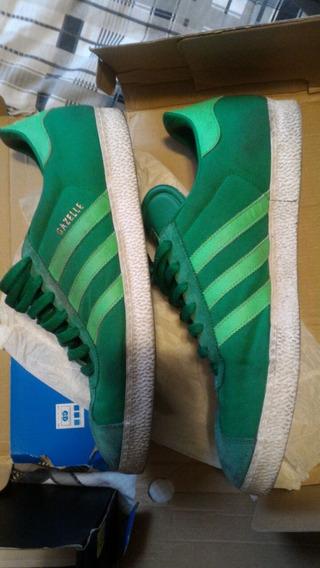 Usado Original adidas Gazelle Verde 45 46br 13us