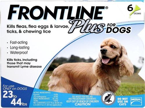 Frontline Plus Pipeta Perros 10 A 20 Kilos 6 Unidades 40vrds