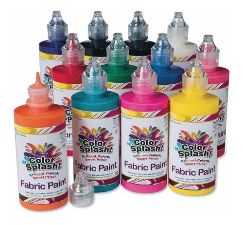 S & S Worldwide 4-oz. Color Splash. Pintura De Tela Sur