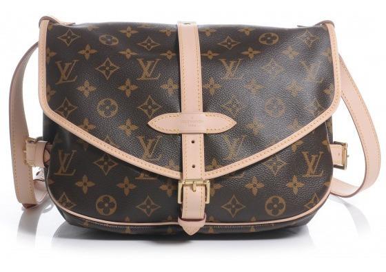 Saumur Monogram Couro C/ Código Premium Top Louis Vuitton