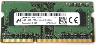 Memoria Ram Ddr3 4gb Micron 1rx8 Pc3l-14900s Sodimm Laptop