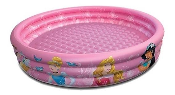 Piscina Inflavel Infantil Princesas Disney 3 Aneis 100x30cm