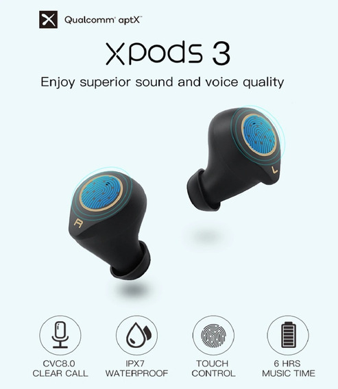 Fone Bluetooth Wavenfun Xpods 3 Original