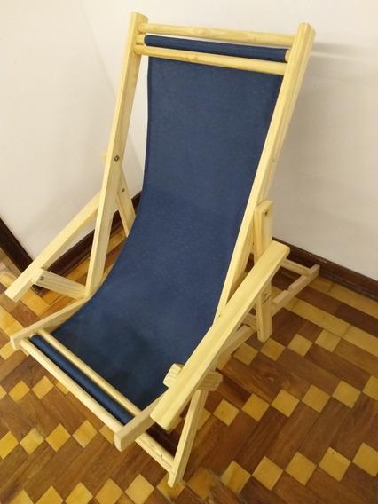 Cadeira Espreguiçadeira Dobrável Madeira