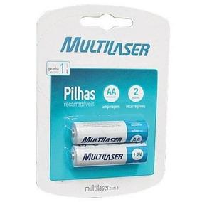 Pilha Recarregável Multilaser Aa C/2 Unid Novo