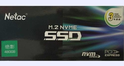 Ssd 480 Gb Nvme , Netac N930e , 3 Anos Garantia, Brinde Leia