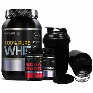 Kit Probiótica Pure Whey + Bcaa 2400 + Thermogenic + Coq