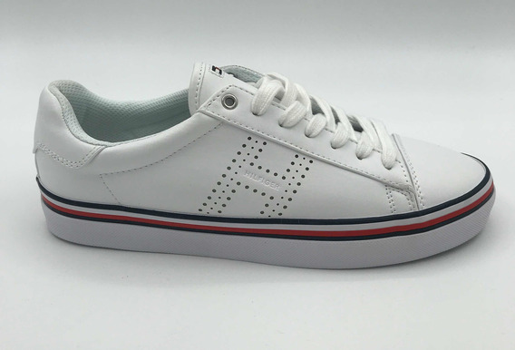 Tommy Hilfiger Tenis Nuevos, Originales Color Blanco #6 Y #8