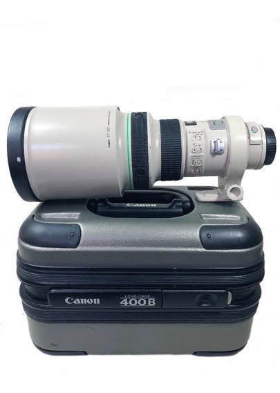Lente Canon 400mm Seminova C/ Garantia E Conservada