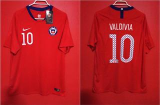 Camiseta Selección Chilena Talla L # 10 Valdivia