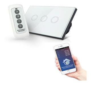 Interruptor Touch Triple Doble Sencillo Rf 433mz O Wifi 2.4g