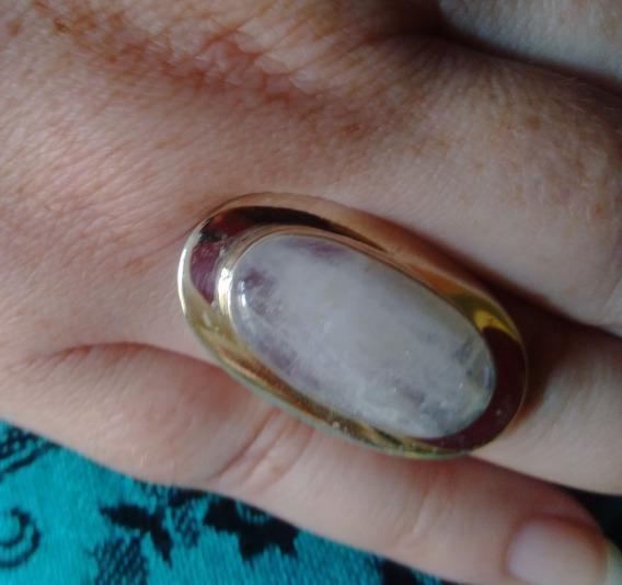 Anel Prata Indiana Pedra Da Lua - 925