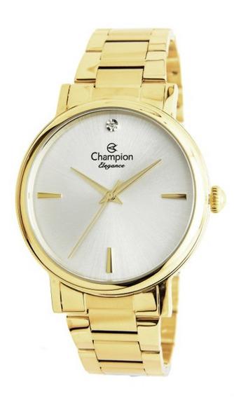 Relógio Feminino Dourado Champion Cn25896h