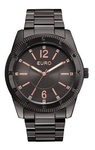 Relogio Euro Feminino Preto Eu2035ymn/4p