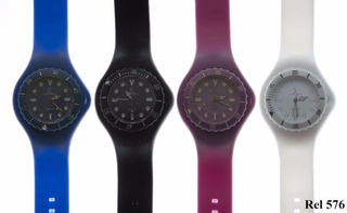 Reloj Hombre Malla Silicona Silver576 Oferta!