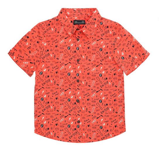 Camisa De Niños C&a Algodón/poliéster Con Estampado