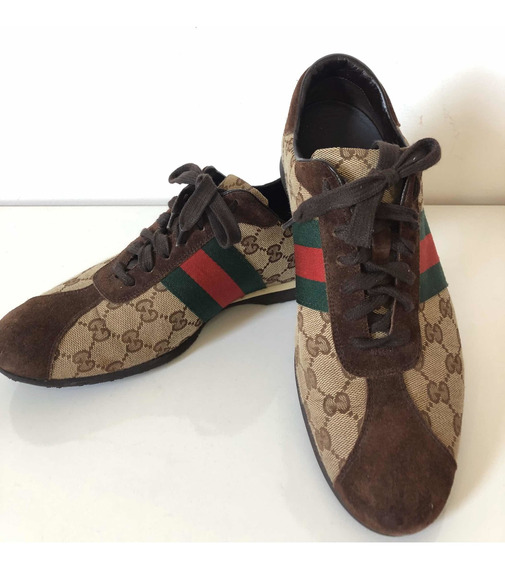 Tênis Gucci Gg Canvas Jacquard Original