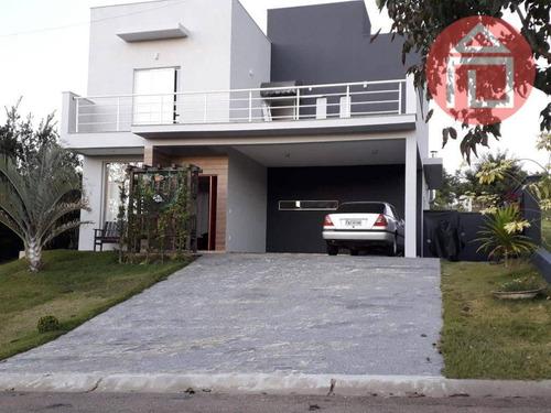 Imagem 1 de 9 de Sobrado Com 3 Dormitórios À Venda, 202 M² Por R$ 1.200.000,00 - Condomínio Terras De Santa Cruz - Bragança Paulista/sp - So0047
