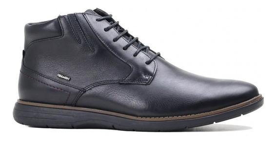 Sapato Masculino Ferracini Trindade Couro Preto 6123f
