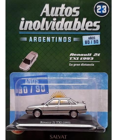 Autos Inolvidables Años 80/90 N° 23 Renault 21 Txi (1993)