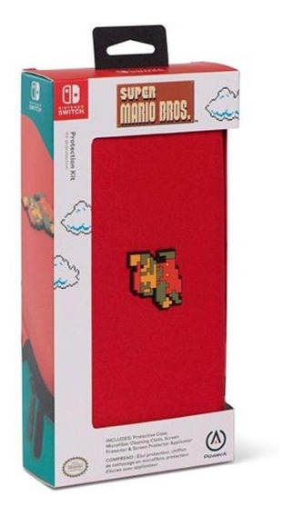 Case Protetora + Película Protetora Powera Mario Bros Switch