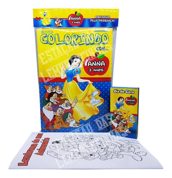 40 Kits Livro De Colorir Com Giz De Cera Personalizados