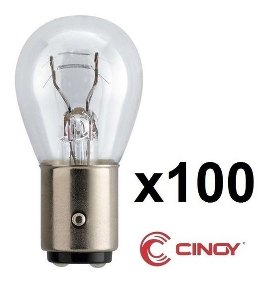 Kit 100 Lampada Bay15d 1034 Halogena 2 Polo P21/5w Cinoy 12v Atacado