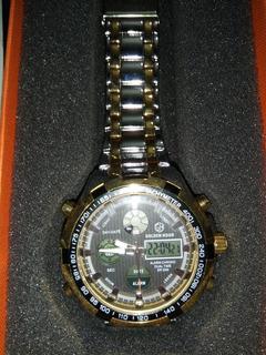 Reloj Golden Hour Moda Digital De Acero Lleno Led