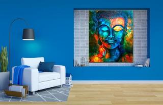 Cuadro Buda Moderno Abstracto Colores Canvas Envío Gratis