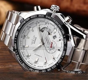 Relógio Winner Skeleton Automático Caliper 36 Super Oferta