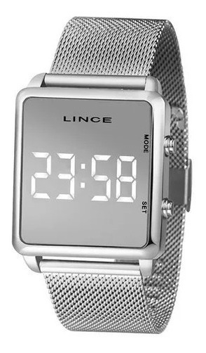 Relógio Lince Feminino Ref: Mdm4619l Bxkx Digital Prata