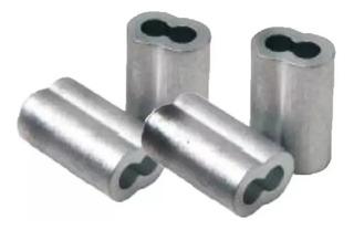 Prensa Cabo P/ Cabo Aço 3/32 (2,4) Alumínio Kit 50 Pçs