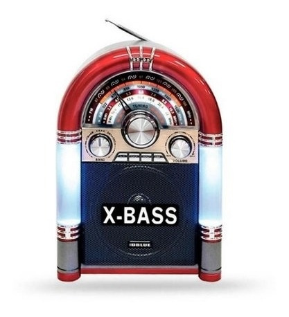 Caixa De Som Jukebox Radio Bluetooth Retro Fm Usb Led Vintag