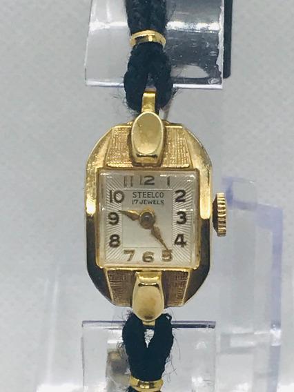 Reloj Steelco Dama 17 Joyas Cuerda Manual Vintage Años 40