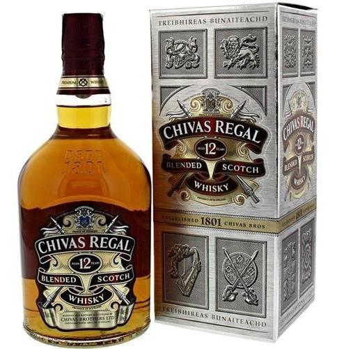 Whisky Chivas Regal 12 Años (litro) 100 % Original